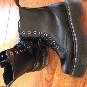 Dr. Martens Jadon Smooth Leather Platform Shoes
